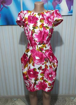 Красивенькое миди платье юбка кокон тюльпан