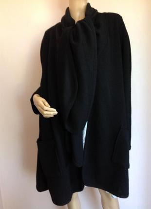 Тёплый шерстяный кардиган завязывается на шарфе/m/ brend anne sufer