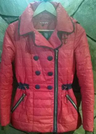 Спешите black friday!!куртка курточка ветровка кораловая розовая с-м р 42-44 р 10-12 р