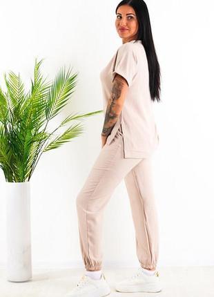 Стильный костюм футболка+штаны