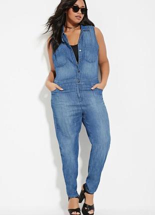 Классный летний джинсовый комбинезон