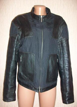Куртка-пиджак! 100% кожа+текстиль! gff! италия! оригинал!