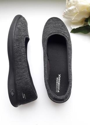 Тёмно серые кроссовки 👟 балеткиskechers на полную ногу 41р.