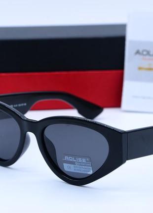 Женские солнцезащитные очки aolise в пластиковой оправе черного цвета2 фото