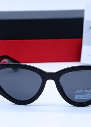 Женские солнцезащитные очки aolise в пластиковой оправе черного цвета3 фото