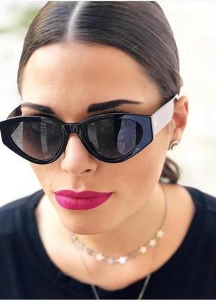 Женские солнцезащитные очки aolise в пластиковой оправе черного цвета
