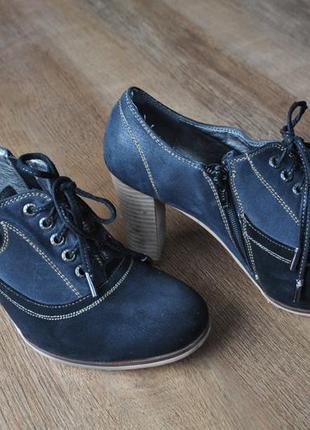 Супер удобные туфли на деревянном каблуке