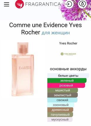 Yves rocher evidence возможен обмен распродажа обмін