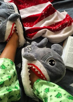 Тапочки комнатные домашные акула размер 35-42