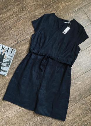 Очень стильное и качественное льняное платье большого размера