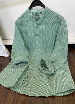 Рубашка лён винтаж вінтаж льон рубаха летняя
