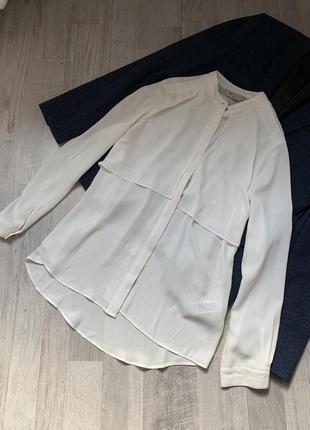 Блуза рубашка белая молочная
