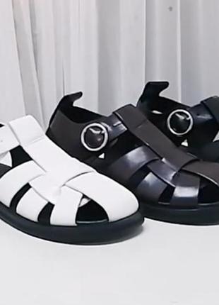 Мега модные сандалии сезона, натуральная  мягкая кожа с 36-41р2 фото