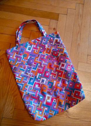 Новая небольшая сумка торба мешок, ручная работа