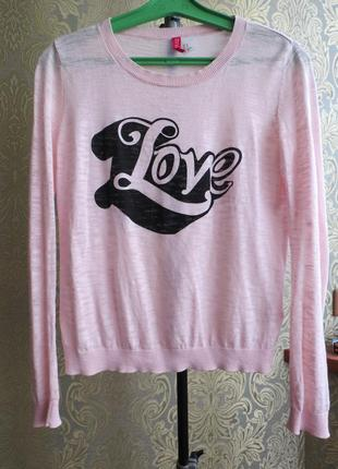 Love кофта розовая легкая