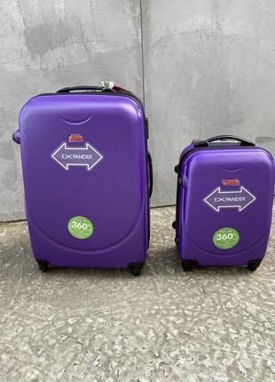 Чемодан дорожный пластиковый на колёсах, чемодан пластиковий на колесах, валіза пластик