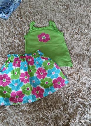 Комплект юбка, топ на 3-5 лет