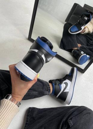 "Nike air jordan retro 1 high ""royal toe blue"" кроссовки найк аир джордан наложенный платёж купить2 фото"