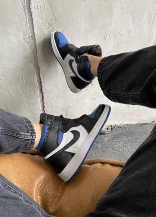 "Nike air jordan retro 1 high ""royal toe blue"" кроссовки найк аир джордан наложенный платёж купить10 фото"