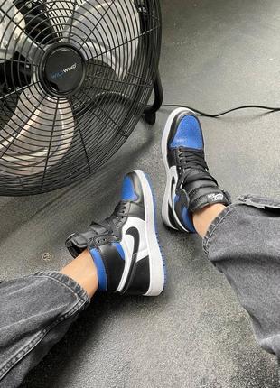 "Nike air jordan retro 1 high ""royal toe blue"" кроссовки найк аир джордан наложенный платёж купить7 фото"
