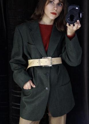 Италия брендовый шерстяной классический пиджак жакет оверсайз удлиненный