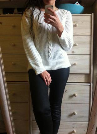 Белоснежный ангоровый свитер 10-12-14 oasis