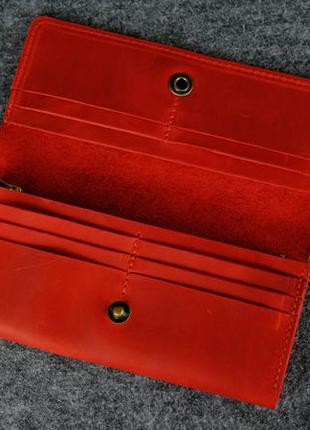 27d3882b89a5 ... Кожа. ручная работа. кожаный красный женский кошелек, портмоне, клатч.3  фото ...