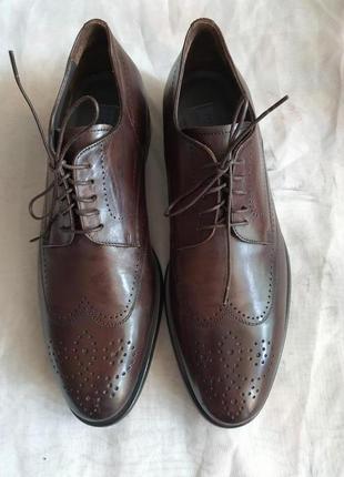 Новые ! yves gerard made italy кожаные туфли оксфорды 42 р.