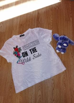 1+1=3 футболка на девочку с вышивкой топ топик