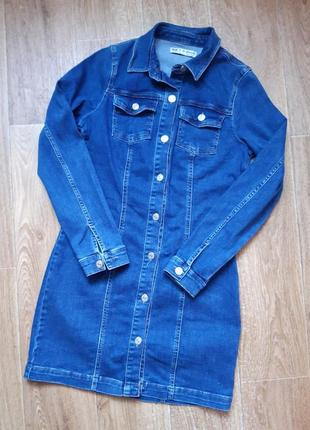 Шикарное джинсовое платье.