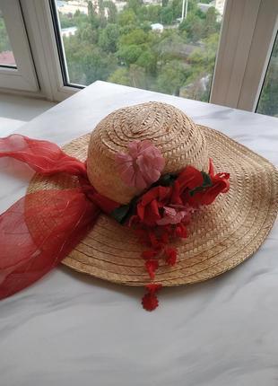 Шляпа винтаж с бантом и цветами для ретро вечеринки, фотосессии
