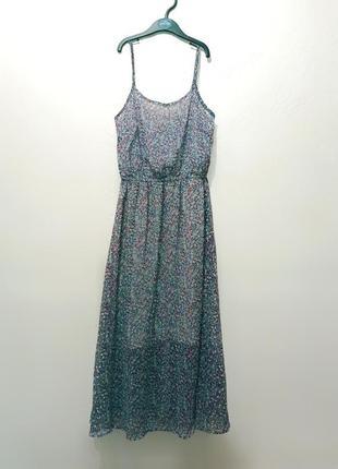 Платье миди красивое разноцветное лёгкое фиолетовое1 фото