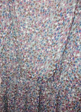Платье миди красивое разноцветное лёгкое фиолетовое3 фото