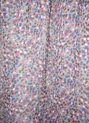 Платье миди красивое разноцветное лёгкое фиолетовое4 фото