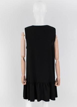 Стильное черное платье на пуговицах сарафан3 фото
