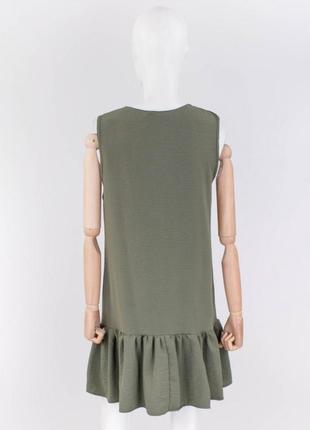 Стильное хаки платье на пуговицах сарафан3 фото