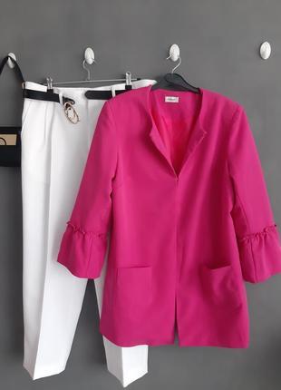 Обалденный, розовый пиджак/жакет💖