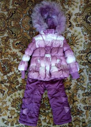 Зимний  костюм для девочки рост 92