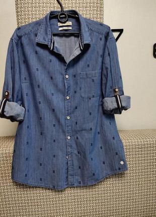 Стильная рубашка, хлопок 100%