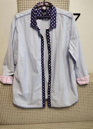 Стильная модная рубашка, 100% коттон