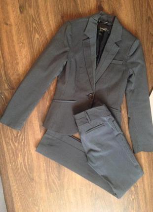 Деловой костюм mango suit полный комплект пиджак юбка штаны