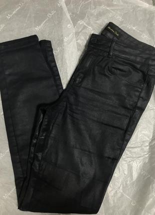 Вощёные джинсы massimo dutti