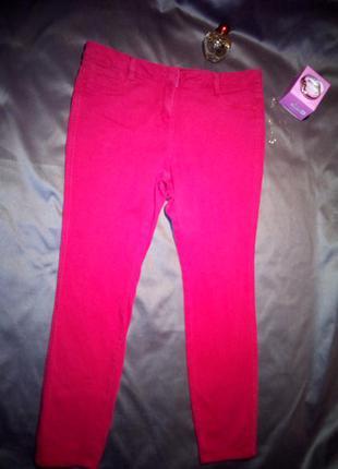 Малиновые джеггинсы, джинсовые леггинсы