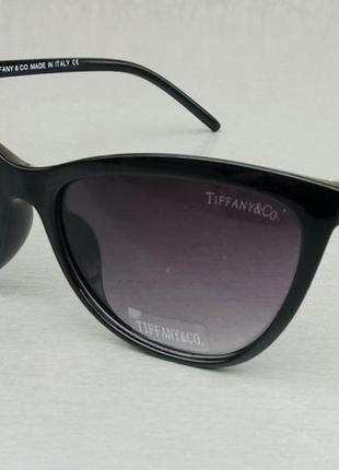 Tiffany & co модные женские солнцезащитные очки черные с золотом градиент