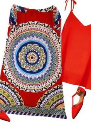 Длинная юбка в принт размер 46-50