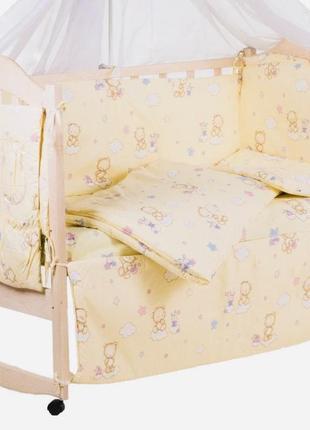 Комплект детского постельного белья asik в кроватку 90*120 8шт