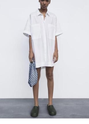 Платье рубашка zara