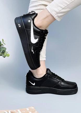 Трендовые женские кроссовки из натуральной кожи,  чёрного цвета