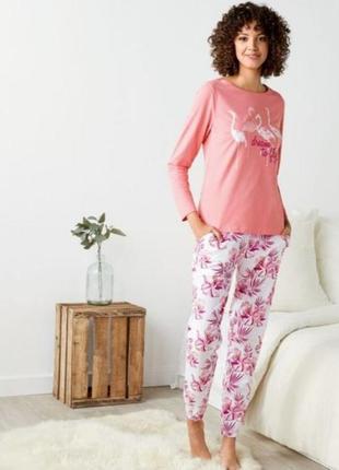Трикотажная женская пижама домашний костюм esmara германия