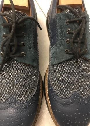 Кожаные мужские туфли (броги) brleycorn италия